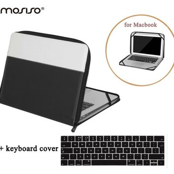 MOSISO for Macbook Air 13 Vintage PU Leather Book Case for Mac book Pro13 Retina Pro 13.3 Laptop Sleeve Case Cover+Keyboard Film