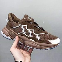 Adidas Ozweego ADIPRENE Fashion New Reflective Leisure Running Shoes Coffee