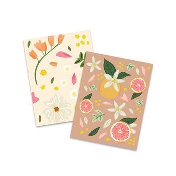 GRAPEFRUIT FLORAL POCKET NOTEBOOKS