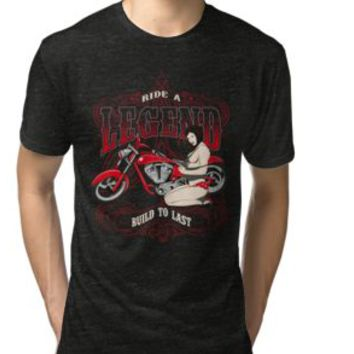 'RIDE A LEGEND - Build to last' T-Shirt by Super3
