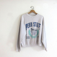 20% OFF SALE vintage Penn State sweatshirt. cotton blend sweatshirt. Nitany Lions