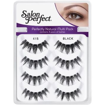 Salon Perfect Perfectly Natural Multi Pack Eyelashes, 615 Black, 4 pr - Walmart.com