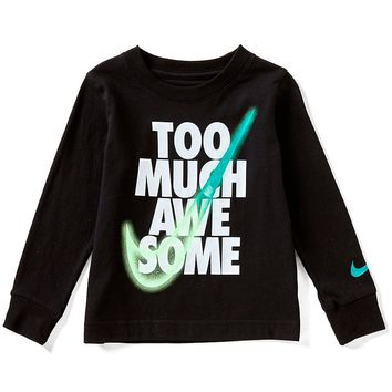 Nike Little Boys 2T-7 Too Much Awesome Long-Sleeve Tee | Dillards