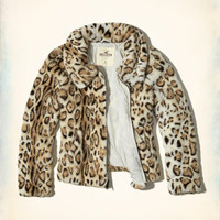 Girls Faux Fur Bomber Jacket | Girls Jackets & Coats | HollisterCo.com