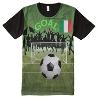 Italy All-Over Printed T-Shirt All-Over Print T-shirt