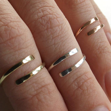 Knuckle Ring, Knuckle Rings,Stacking Rings, above knuckle ring, Tri Tone Knuckle Rings, Toe Rings, Rings, Sterling Silver Knuckle Ring