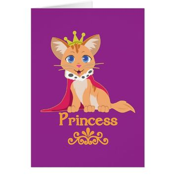 Princess Kitten Card