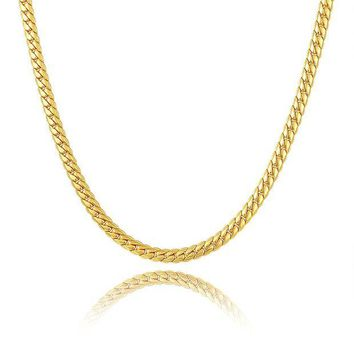 ac spbest 2017 NAKELULU new gold color/ Silver color necklace 6mm wide size men's jewelry, men's charm snake necklace