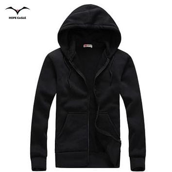 New 2017 Men Hoodie Homme Spring & Autumn Period Mens Hoodies Outerwear male Casual coat Brand zipper Hoodies &Sweatshirts XXL