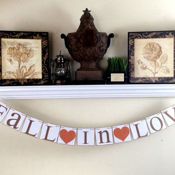 Fall in Love Banner  - Fall Decoration, Fall Banner, Fall Wedding,  Fall Sign, Fall Garland