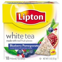 Lipton White Tea Pyramids, Blueberry Pomegranate 18 ct