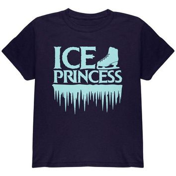 PEAPGQ9 Ice Princess Figure Skating Youth T Shirt