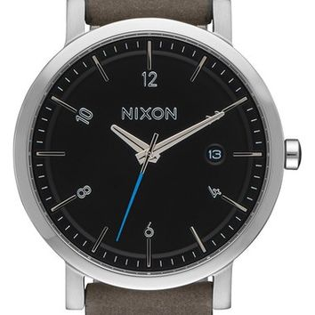 Nixon 'Rollo' Leather Strap Watch, 38mm | Nordstrom