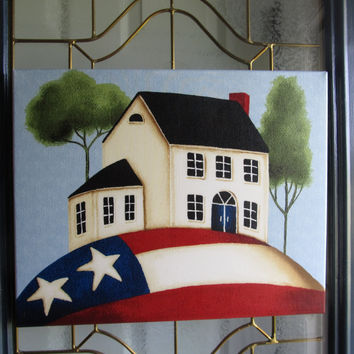 Patriotic door hanging