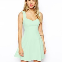 ASOS Sleeveless Sweetheart Skater Dress in Texture