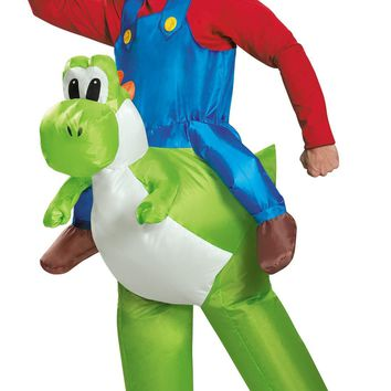 Super Mario Riding Yoshi Adult 42-46 Costume