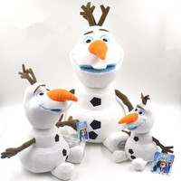 Retail 25CM 30CM Cartoon Movie Frozen Olaf Plush Toys Cotton Stuffed Doll