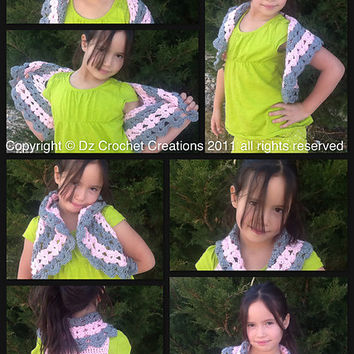CROCHET PATTERN Girls Bolero INSTANT Download / Crochet Pattern Girls Bolero Instant Download / Girls crochet Bolero pattern / Spring Bolero
