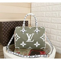 hcxx 1010 Louis Vuitton LV Neverfull Shopping Bag Daier Azur Canvas Handbag 32-29-17cm White Green