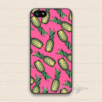 Pineapple iPhone 5 5s Case,iPhone 4 4s Case,iPhone 5C Case,Samsung Galaxy S3 S4 S5 Case,Cute Pineapple Hard Plastic Rubber Cover Skin Case