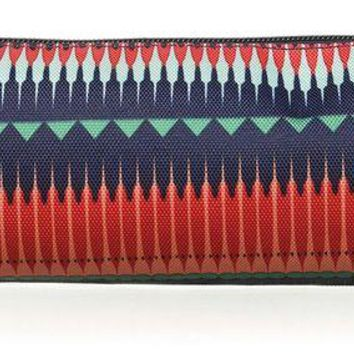 DCK4S2 Roxy Junior's Charm School Pencil Pouch Case, 6537 JAGGED STRIPE GPF3, One Size