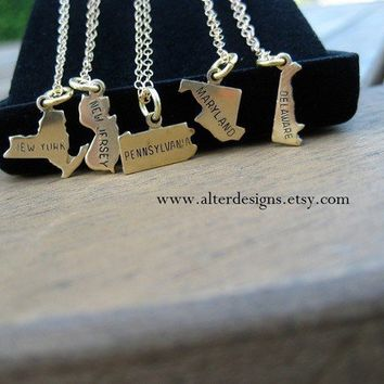 Best new jersey necklace products on wanelo state charm necklace wedding or bridesmaid gift new york pendant new jersey pennsylvania maryland aloadofball Images