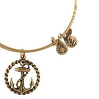 Nautical Expandable Wire Bangle - Russian Gold  - Single Charm Bangles - Bracelets