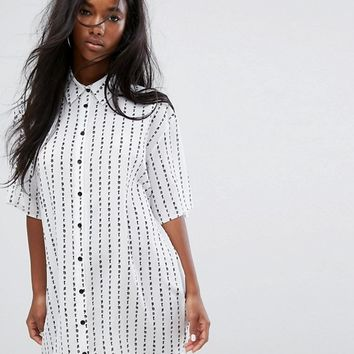 The Ragged Priest Not Sorry Shirt Dress at asos.com