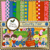 Digital Scrapbooking kit - County Fair - child clipart and digital scrapbooking papers