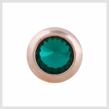 Rose Gold Green Crystal 12mm Mini