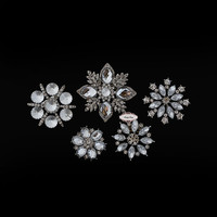 5pcs Rhinestone Brooch Set