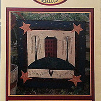 Home of a Friend Pieced Applique Quilt Pattern 32 x 33 in Primitive Country c194