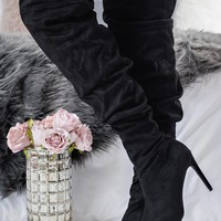 Day Delight Slouchy Boots (Black)