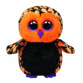 "Original 6"" 15cm Ty Beanie Boos Haunt the Owl Plush Stuffed Collectible Big Eyes Doll Toy"