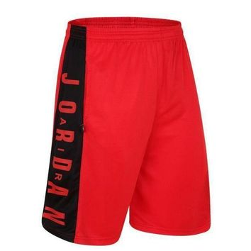 Jordan Trending Casual Men Embroidering Print Sport Shorts Pants Black