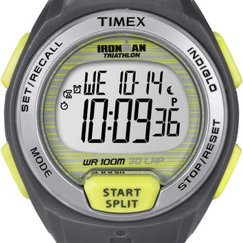 Timex Women's Ironman Oceanside 30-Lap Watch with Grey Strap