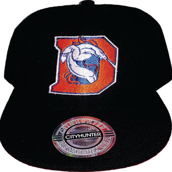 Cool Tilted D Broncos embroidered hat on snapback or Flexfit 6277 hat  with D Denver Colorado USA awesome Christmas Gift