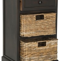 Carrie Side Storage Side Table Brown