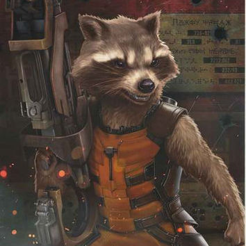 Guardians of the Galaxy Rocket Raccoon Poster 22x34