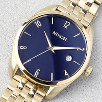 Nixon Bullet Light Gold and Navy Watch