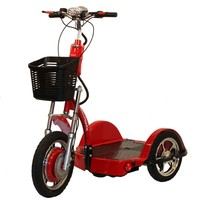 Challenger X Scooter with Folding Seat J750-DLX - Challenger Mobility Standing Scooters | TopMobility.com