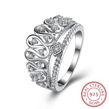 925 Sterling Silver King's Crown Ring