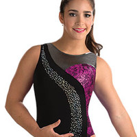 Aly Classic Sangria Lace Leotard from GK Elite