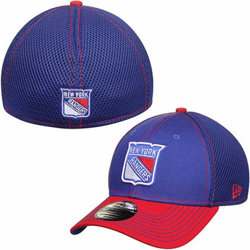 New York Rangers New Era Two-Tone Neo 39THIRTY Flex Hat – Royal Blue/Red