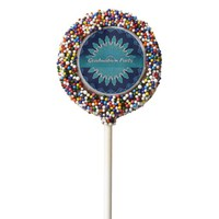 Graduation Party Blue Vectors Mandala Cookie Pops Chocolate Dipped Oreo Pop