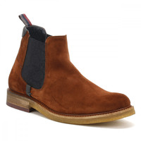 Ted Baker Mens Dark Tan Suede Bronzo Ankle Boots