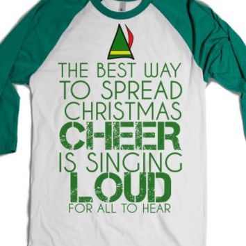 Christmas Cheer-Unisex White/Evergreen T-Shirt
