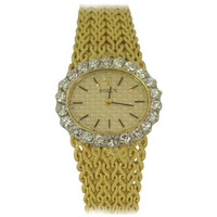 Rolex Lady's Yellow Gold and Diamond Bracelet Watch