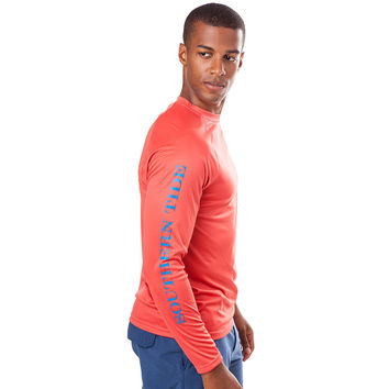 Tide to Trail Long Sleeve Performance Tee Shirt in Terracotta by Southern Tide