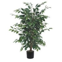 "Artificial Ficus Bush - Green (4"")"